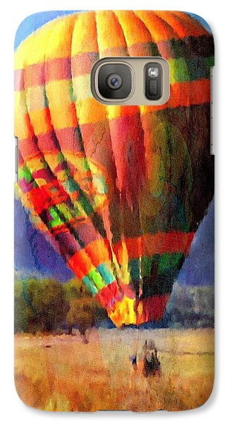 Galaxy Case featuring the photograph Balloon Landing In Los Frailes by John  Kolenberg