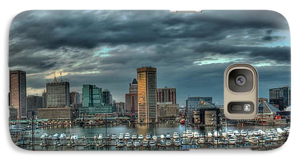 Galaxy Case featuring the photograph Baltimore Inner Harbor Pano by Mark Dodd