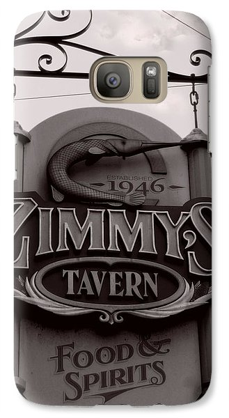 Galaxy Case featuring the photograph Barhopping At Zimmys 1 by Lee Craig
