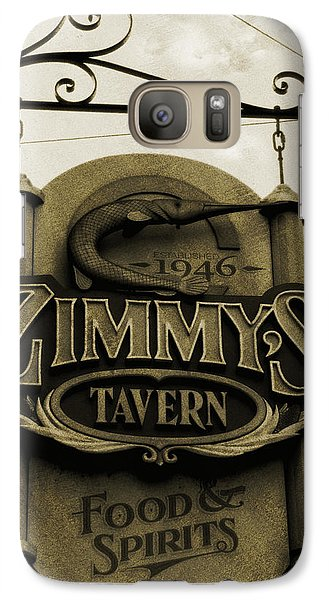 Galaxy Case featuring the photograph Barhopping At Zimmys 2 by Lee Craig