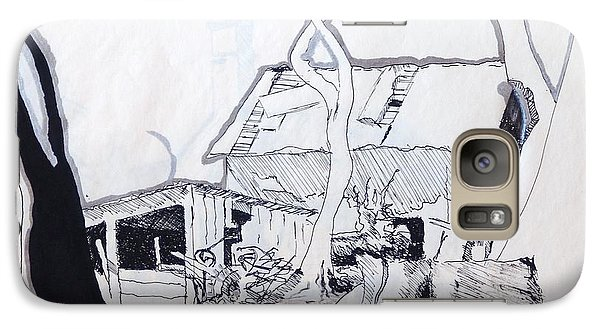 Galaxy S7 Case featuring the drawing Barn 4 by Rod Ismay