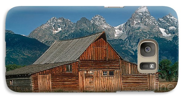 Galaxy Case featuring the photograph Barn And Tetons by Jerry Fornarotto