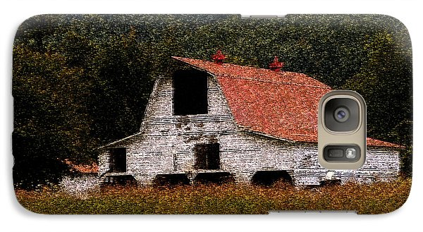 Galaxy Case featuring the photograph Barn In Mountains by Lydia Holly