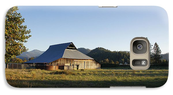 Galaxy Case featuring the photograph Barn In The Applegate by Mick Anderson