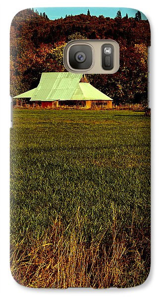 Galaxy Case featuring the photograph Barn In The Style Of The 60s by Mick Anderson