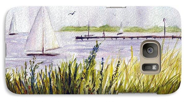 Galaxy Case featuring the painting Barnegat Sails by Clara Sue Beym