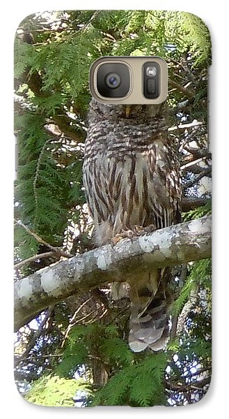 Galaxy Case featuring the photograph Barred Owl  by Francine Frank