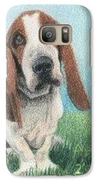 Galaxy Case featuring the drawing Basset Hound - Aceo by Ana Tirolese