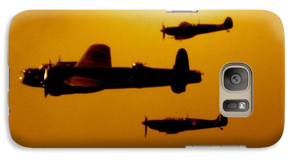 Galaxy Case featuring the photograph Battle Of Britain Flight At Dusk by John Colley
