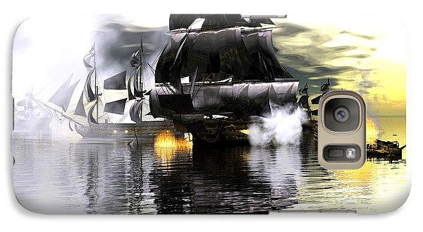 Galaxy Case featuring the digital art Battle Smoke by Claude McCoy