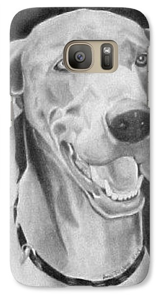 Galaxy Case featuring the drawing Baxter by Ana Tirolese