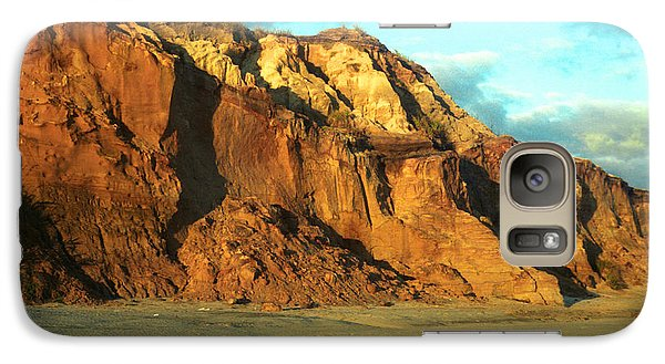 Galaxy Case featuring the photograph Beach Cliff At Sunset by Mark Dodd
