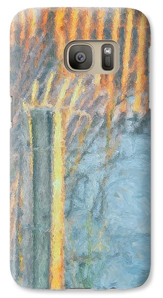 Galaxy Case featuring the photograph Beach Fence by Lynne Jenkins