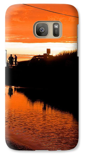 Galaxy Case featuring the photograph Beach Party by Michael Friedman