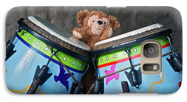 Galaxy Case featuring the photograph Bear And His Drums At Walt Disney World by Thomas Woolworth