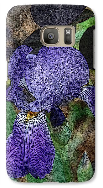 Galaxy Case featuring the photograph Bearded Iris by Michael Friedman