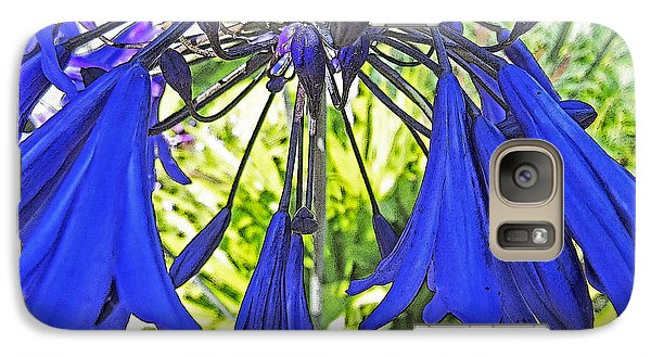 Galaxy Case featuring the digital art Beautiful Bluebells Close-up by Anne Mott