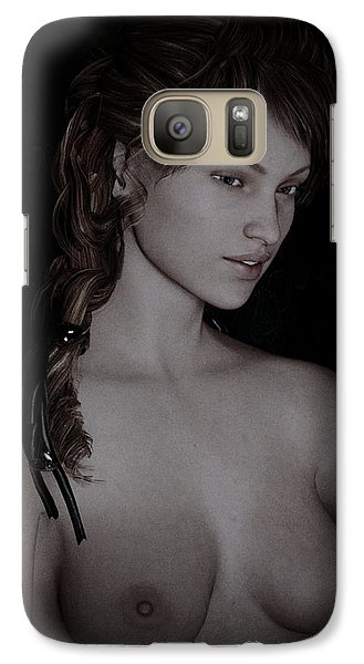 Galaxy Case featuring the painting Beautiful Nude Study by Maynard Ellis