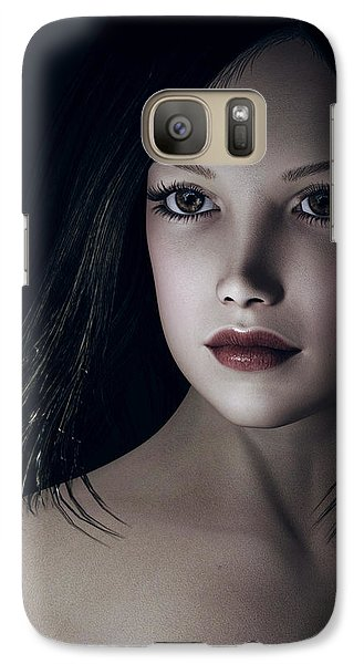 Galaxy Case featuring the digital art Beautiful Portrait by Maynard Ellis