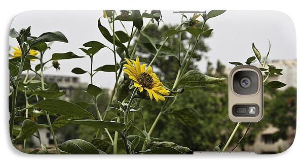 Galaxy Case featuring the photograph Beautiful Yellow Flower In A Garden by Ashish Agarwal