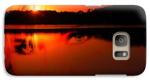 Galaxy Case featuring the photograph Beauty Looks Back by Clayton Bruster
