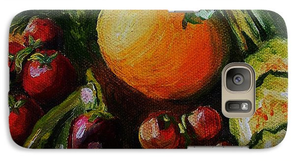 Galaxy Case featuring the painting Beauty Of Good Eats by Karen  Ferrand Carroll