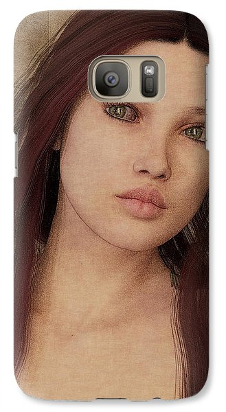 Galaxy Case featuring the painting Bedroom Portrait by Maynard Ellis