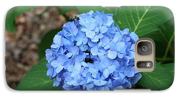 Galaxy Case featuring the photograph Bee On Hydrangea by Michael Waters