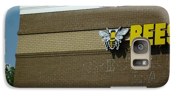 Galaxy Case featuring the photograph Bees On Building by Renee Trenholm