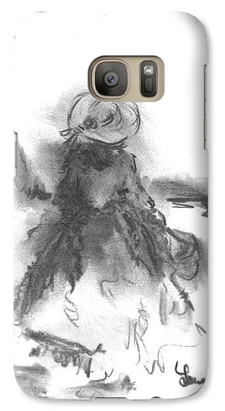 Galaxy Case featuring the drawing Being Happy by Laurie L