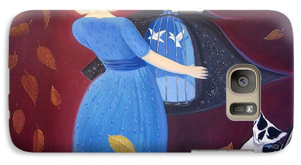 Galaxy Case featuring the painting Belgian Autumn Dance by Tone Aanderaa