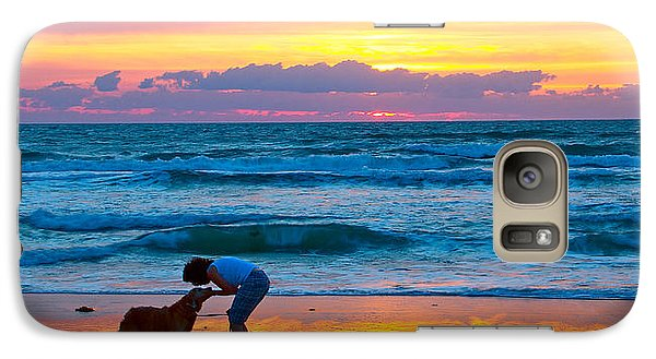Galaxy Case featuring the photograph Bella At Sunrise by Alice Gipson