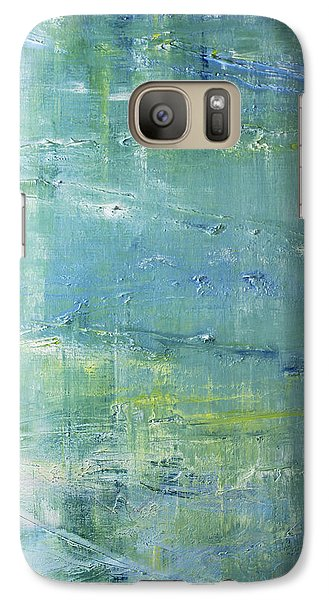 Galaxy Case featuring the painting Beyond The Pond by Dolores  Deal