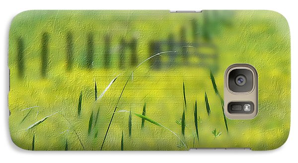 Galaxy Case featuring the photograph Beyond The Weeds by EricaMaxine  Price