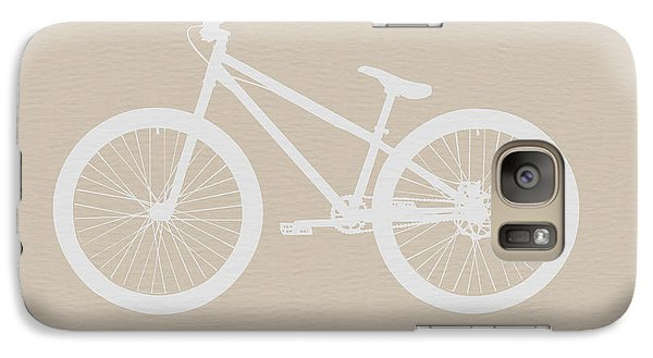 Bicycle Galaxy S7 Case - Bicycle Brown Poster by Naxart Studio