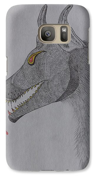 Galaxy Case featuring the drawing Big Bad Wolf by Gerald Strine