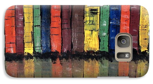 Galaxy Case featuring the painting Big City Color by Kathy Sheeran