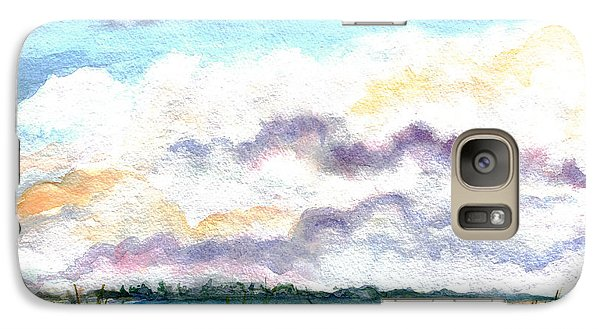 Galaxy Case featuring the painting Big Clouds by Clara Sue Beym