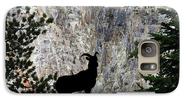 Galaxy Case featuring the photograph Big Horn Sheep Silhouette by Dan Friend