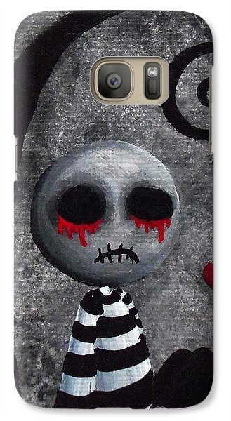 Galaxy Case featuring the painting Big Juicy Tears Of Blood And Pain 2 by Oddball Art Co by Lizzy Love