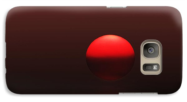 Galaxy Case featuring the photograph Big Red Ball by Deborah Smith
