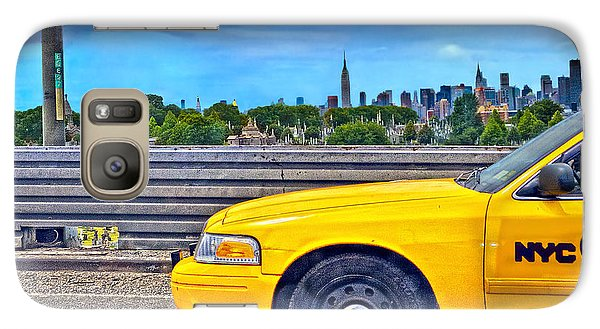 Galaxy Case featuring the photograph Big Yellow Taxi by Marianne Campolongo