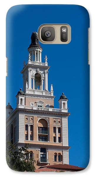 Galaxy Case featuring the photograph Biltmore Hotel Tower And Moon by Ed Gleichman