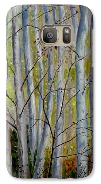 Galaxy Case featuring the painting Birch Forest by Julie Brugh Riffey