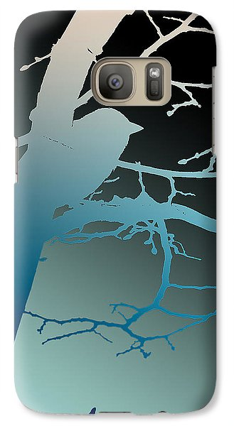 Galaxy Case featuring the photograph Bird At Twilight by Lauren Radke