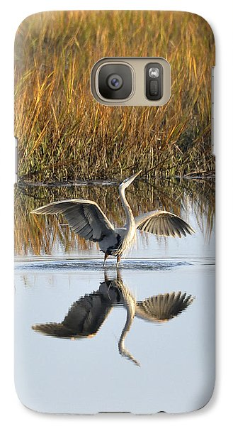 Galaxy Case featuring the photograph Bird Dance by Kay Lovingood