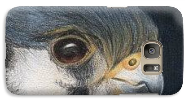 Galaxy Case featuring the drawing Bird Of Prey - Aceo by Ana Tirolese