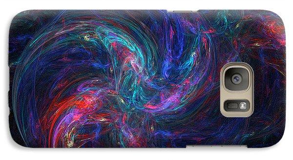 Galaxy Case featuring the digital art Birth Of A Galaxy by Ann Peck