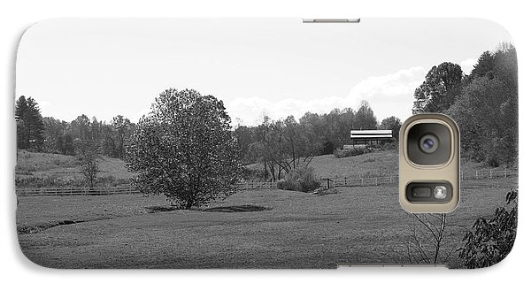 Galaxy Case featuring the photograph Black And White Country Fields by Michael Waters