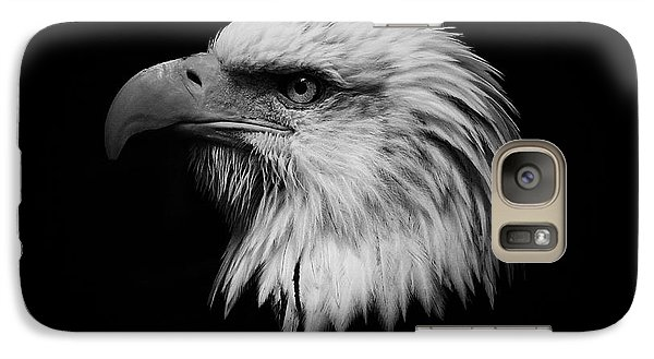 Galaxy Case featuring the photograph Black And White Eagle by Steve McKinzie